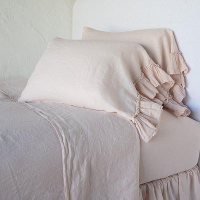 Bella Notte LInens Pearl Whisper Linen Pillowcase