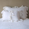 Bella Notte Linens White Whisper Linen Pillow Sham