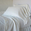 Bella Notte Linens Winter White Whisper Linen Pillowcase