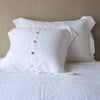 Bella Notte Linens White Linen Pillow Sham