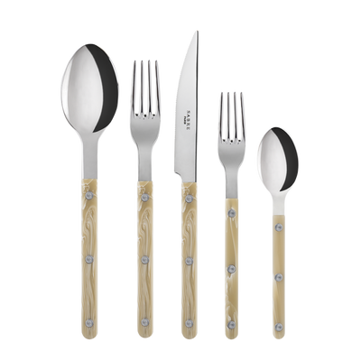 Sabre Paris Bistort Shiny Horn 5-piece Place Setting