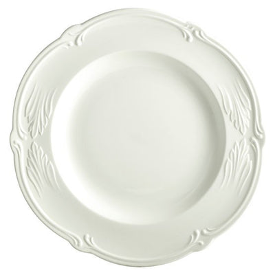 Gien Rocaille White Round Deep Dish