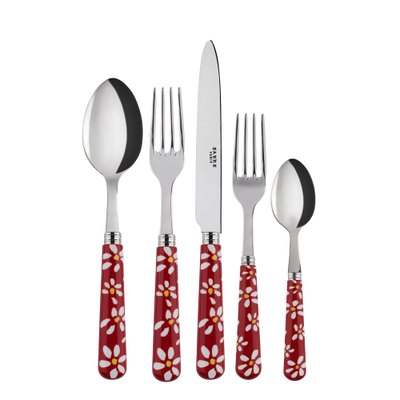 Sabre Paris Marguerite Red Place Setting