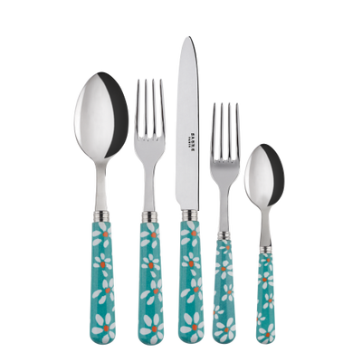 Sabre Paris Marguerite Turquoise Place Setting