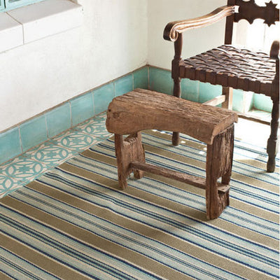 Dash & Albert Blue Heron Stripe Rug