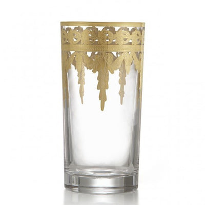 Arte Italica Vetro Gold Highball Glass