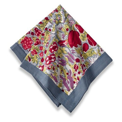 Couleur Nature Jardine Red Grey Napkin