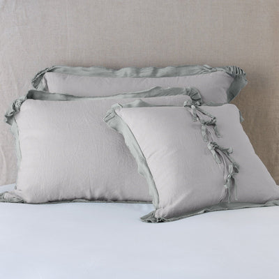 Bella Notte Linens Delphine Fog Pillow Shams