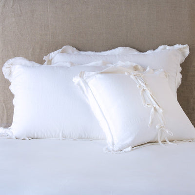 Bella Notte Linens Delphine White Pillow Shams