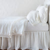 Bella Notte Linens Delphine Winter White Coverlet