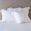 Bella Notte Linens Delphine Winter White Pillow Shams