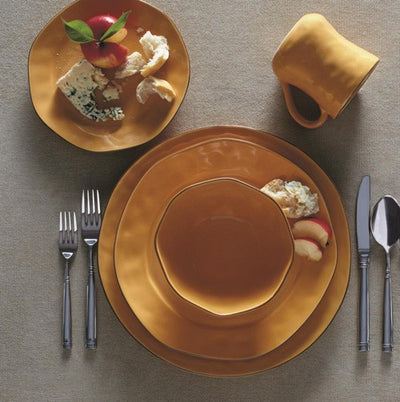 Skyros Designs Cantaria Golden Honey Chargers (set of 4)