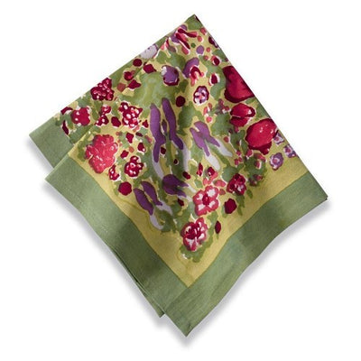 Couleur Nature Jardine Red Green Napkin