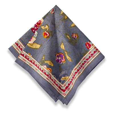 Couleur Nature Pansy Red Grey Napkin