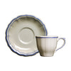 Gien Filet Bleu Tea Cup & Saucer