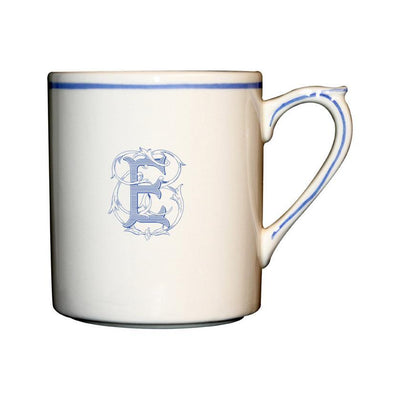 Gien Filet Bleu Monogram E Mug