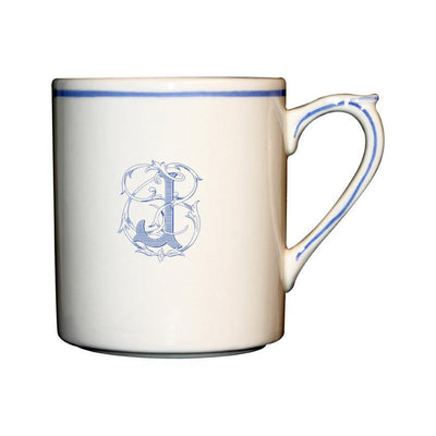 Gien Filet Bleu Monogram J Mug