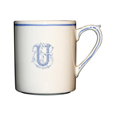 Gien Filet Bleu Monogram U Mug
