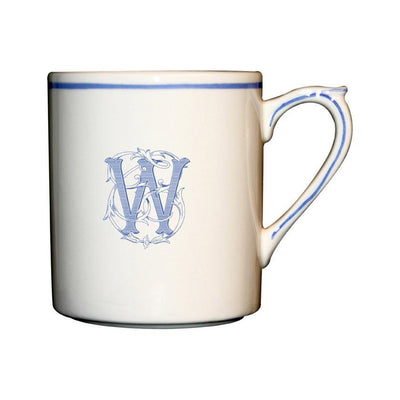 Gien Filet Bleu Monogram W Mug