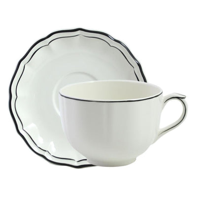 Gien Filet Midnight Jumbo Cup & Saucer