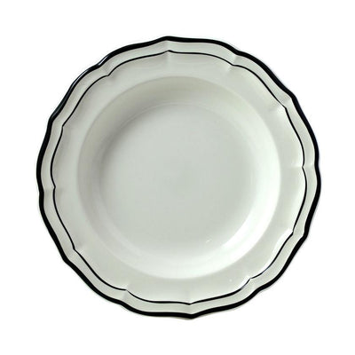 Gien Filet Midnight Rimmed Soup Bowl