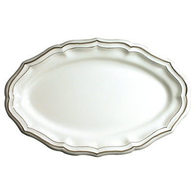 Gien Filet Taupe Oval Platter