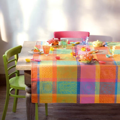 Garnier Thiebaut Mille Wax Creole Coated Tablecloth