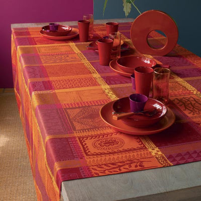 Garnier Thiebaut Mille Wax Ketchup Coated Tablecloth