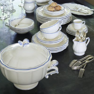 Gien Filet Blue Dinnerware