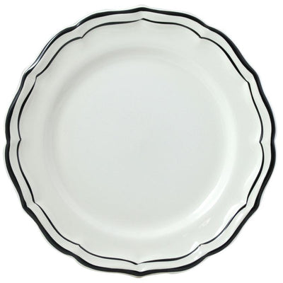 Gien Filet Midnight Dinner Plate