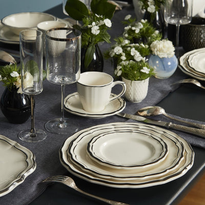 Gien Filet Midnight Dinnerware
