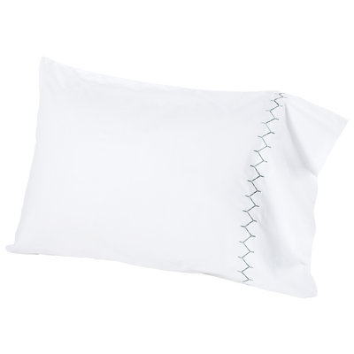 John Robshaw Stitched Gray Pillowcase