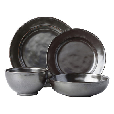 Juliska Pewter Stoneware 4 piece place setting