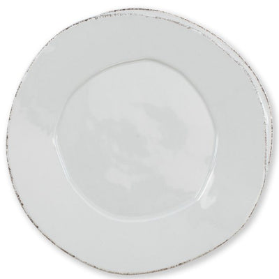 Vietri Lastra Light Grey American Dinner Plate