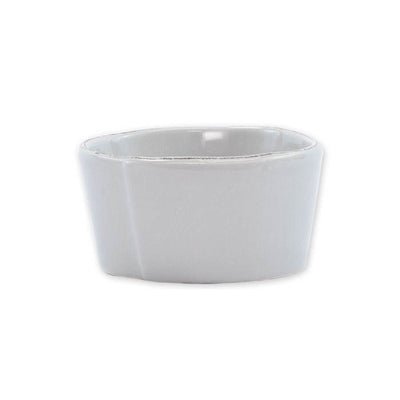 Vietri Lastra Light Gray Condiment Bowl