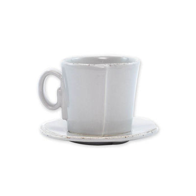 Vietri Lastra Light Gray Espresso Cup & Saucer Set
