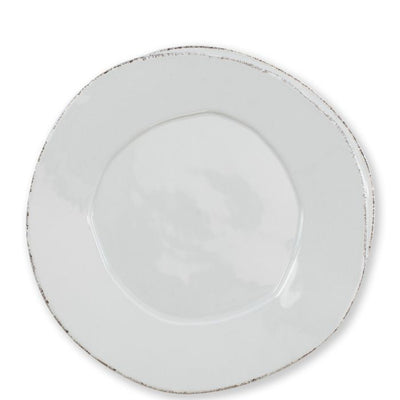 Vietri Lastra Light Gray European Dinner Plate