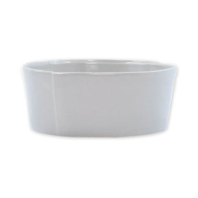 Vietri Lastra Light Gray Medium Serving Bowl