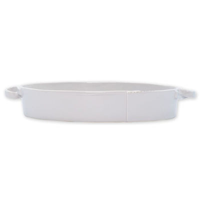 Vietri Lastra Light Gray Oval Baker