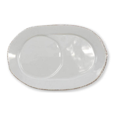 Vietri Lastra Light Gray Oval Tray