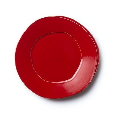 Vietri Lastra Red European Dinner Plate