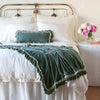 Bella Notte Linens Loulah Eucalyptus Throw Blanket