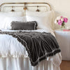 Bella Notte Linens Loulah Fog Throw Blanket