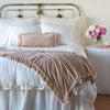 Bella Notte Linens Loulah Pearl Throw Blanket