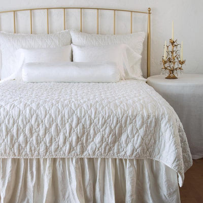 Bella Notte Linens Luna Winter White Coverlet