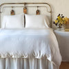Bella Notte Linens Madera Luxe Winter White Duvet Cover