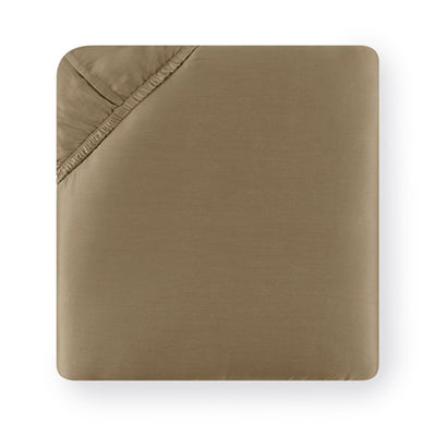 Sferra Giotto Dark Khaki Fitted Sheet