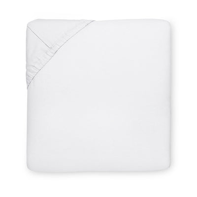 Sferra Sereno White Fitted Sheet