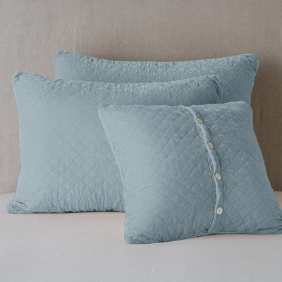 Bella Notte Linens Silk Velvet Quilted Cloud Pillow Shams