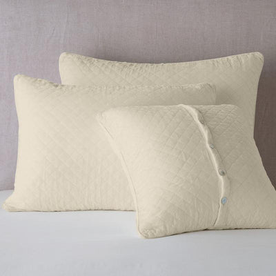 Bella Notte Linens Silk Velvet Quilted Parchment Pillow Shams